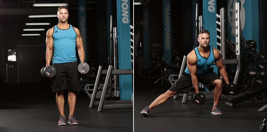 how to do the dumbbell side lunge